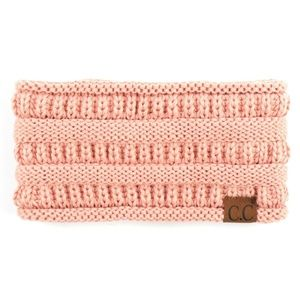 Solid cable knit C.C headwrap in  PINK